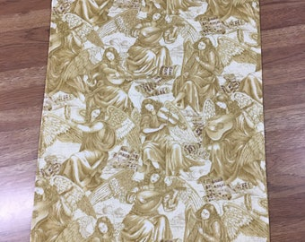 Golden Angels cloth napkins