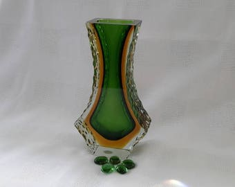 Mandruzzato Sommerso Murano Vase, c.1960