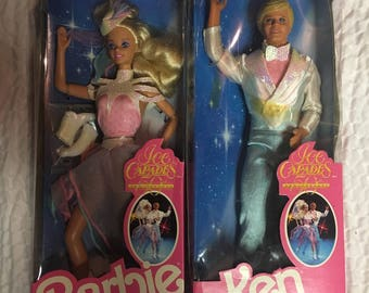 Barbie and Ken Ice Capades 50th Anniversary Mattel 1989 New ; Price Drop