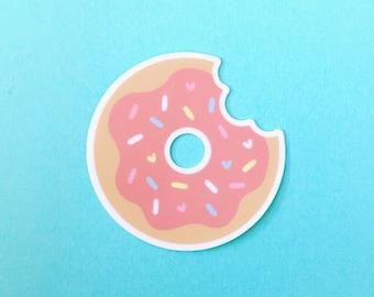 Sprinkled with love iced donut vinyl diecut sticker