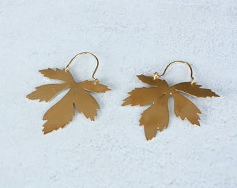 Sarnicula - gold platted earrings