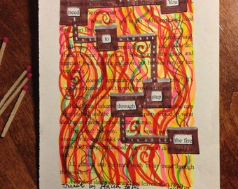 Blackout Poetry -  Trust (Dealing with Blue) - Art and a Donation to AHA