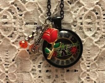 Guns N Roses Charm Necklace/Guns N Roses/Guns N Roses Jewelry/Rock Music Jewelry/Axl Rose/Axl Rose Jewelry/Guns N Roses Fan
