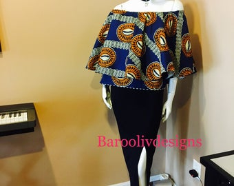 Ankara off shoulder top