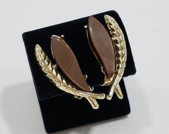 Beautiful Pair of Thermoset Clip Earrings