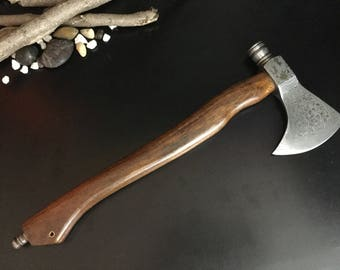 DAMASCUS AXE /PIPE .This Is also to be used as a Smoking Pipe   sa2