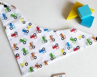 Tractor Baby Bib, Farmer Bib, Farm Theme Dribble Bib, Baby Bandana Bib, Toddler Bib, Tractor Baby Gift, Boys Toddler Bib