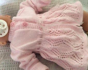 Baby girls hand knitted cardigan/matinee coat