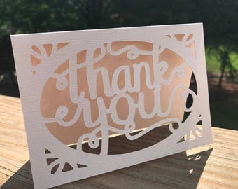 Thank You Note Cards/Laser Cut/Weddings/Engagements/Baby Showers/Bridal Party/Bridal Showers/Friends