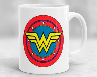 Wonder Woman Mug, Superhero Gift, Super Hero Mug, Wonder Woman Gift, Comic Mug P95