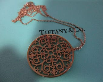 Genuine vintage Tiffany & Co enchant necklace rubedo - preloved