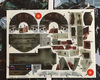 Star Wars Radar Laser Cannon RLC Custom Vintage Repro Die Cut - Star wars custom die cut stickers