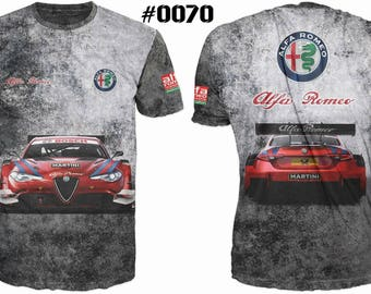 New ultramodern 3D  High Quality  Alfa Romeo   Men's T-shirt