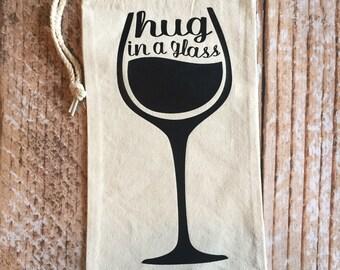 Hug In A Glass Wine Bag