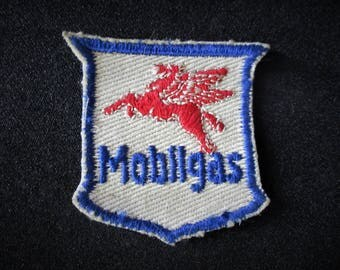 Vintage Mobilgas Oil Gas Patch Red Winged Flying Pegasus