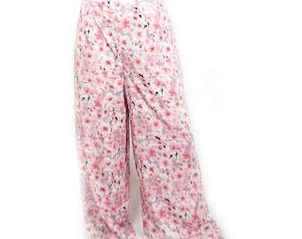 Zoe wide leg pants pink