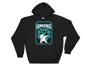 Hmong Hooded Sweatshirt