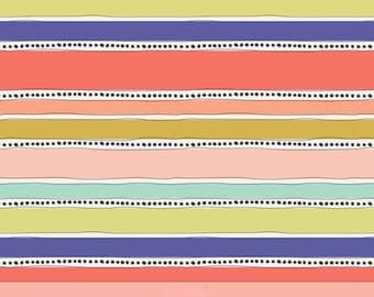 Art Gallery Fabrics - Mobius Stripe Warm in Voile from Geometric Bliss collection designed by Jeni Baker - 100% Premium Cotton Voile