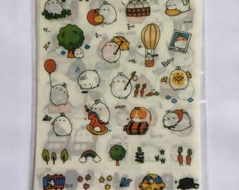 Molang sticker set 6 sheets