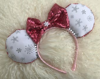 The Snowflake - Disney inspired Christmas Minnie Mouse Ears