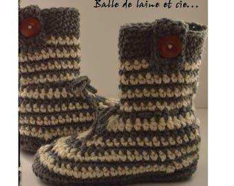 Women's crochet Slippers size 7-8