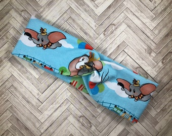 Disney Dumbo turban headband, run Disney, yoga headband, women's headband