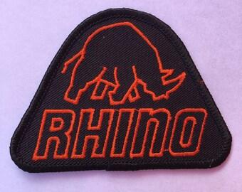 RHINO Logo Patch L@@K Bowling Teams WILDLIFE Exc Condition RHINO