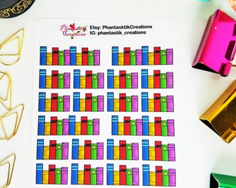 School Library Book Functional Planner Stickers
