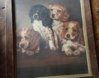 Adorable Vintage Dog Print