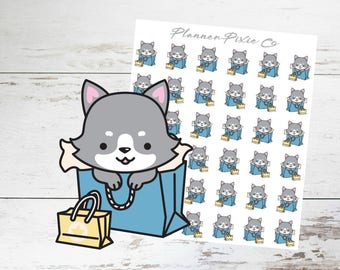 Wolf Planner Stickers // Shopping // Retail Therapy