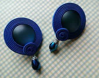 Soutache earrings-Gift for sister, mother- Designer jewelry, earrings-handmade
