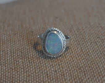 Sterling Silver Opal ring Handmade