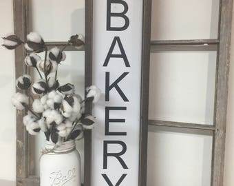 Bakery Kitchen Sign, Black and White Sign, Kitchen Sign, Farmhouse Sign, Modern Farmhouse Kitchen Sign, Kitchen Bakery Sign, White Kitchen
