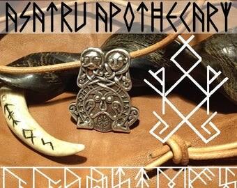 Odin and Freya Rune pendant viking asatru nordic thor mjolnir yule