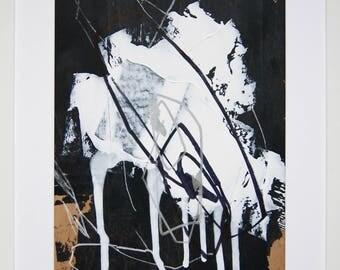 Original abstract illustration, no. 0661, mixed media on paper, 35x50cm. 2017