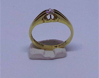 Lovely engagement ring in 18 carat gold