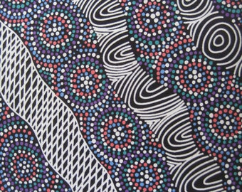 100% Cotton//Quilting fabric//Aboriginal fabric//Australian//patchwork