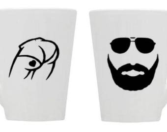 butt/beard/love/coffee/mug/gift/couples/fun/wedding/like/sunglasses/cup/valentines/sweetest day