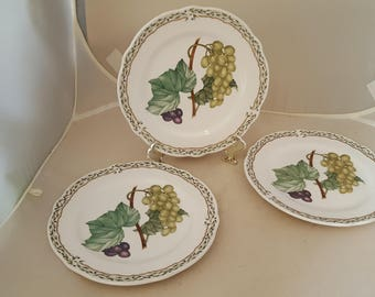3 Noritake Primachina Royal Orchard Bread Plates