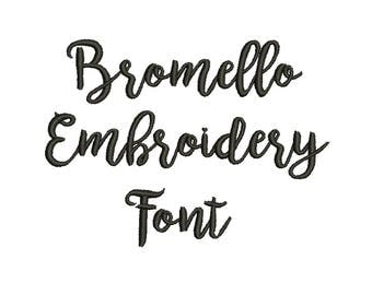 4 Sizes**bromello Embroidery Font Embroidery design- 8 formats machine embroidery design - Instant Download machine embroidery pattern