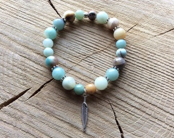 Amazonite (multicoloured) bracelet