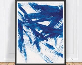 Navy Blue Print ,Abstract print ,Modern Art ,Modern print ,Abstract Poster ,Instant Download ,Blue Print ,Abstract Wall Art, Blue Decor