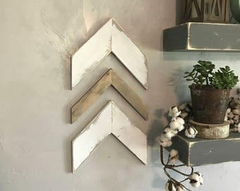 Chevron Arrows Wall Chevron Arrows Wall Arrows Chevrons Wall Chevrons Wall Decor Rustic Decor Set of Three