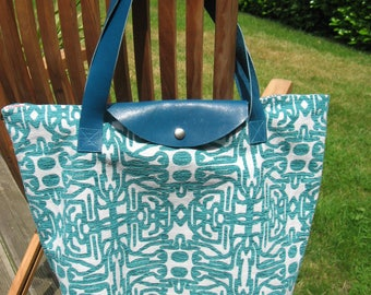 Large turquoise Tote