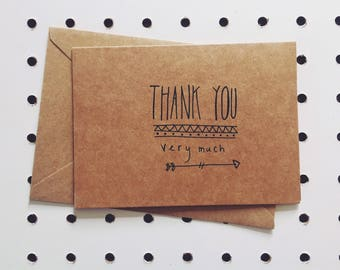 """Card devoeux """"thank you very much"""""""