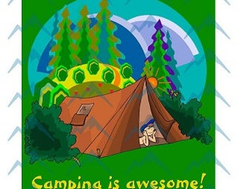 Camping is Awesome Printable