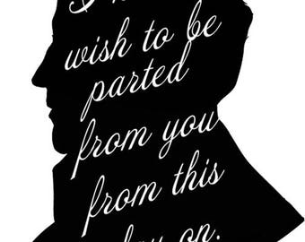 Mr Darcy Silhouette *INSTANT DOWNLOAD*