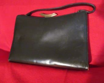 Vintage 1950s  dark chocolate Rich Craft handbag