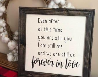 12x12 FOREVER in LOVE canvas