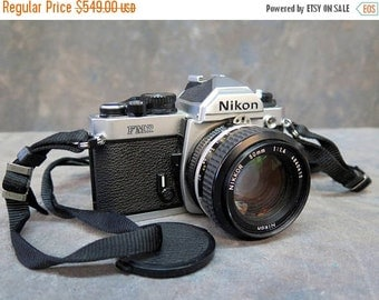 Nikon FM2N 35mm SLR Film Camera In Silver Nikkor 50mm F/1.4 Ais Lens